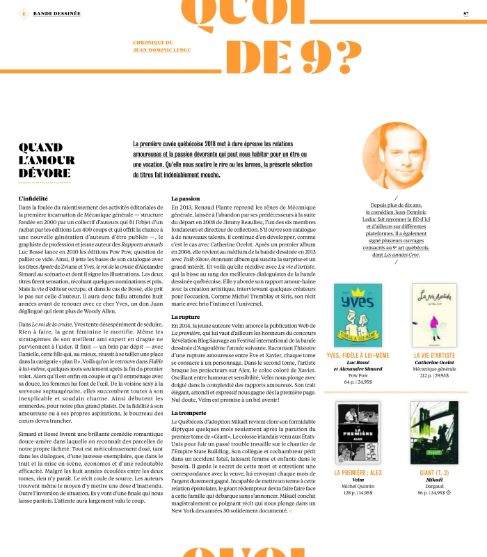 Libraires avril 18